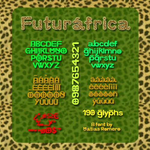 Image for Futurafrica font