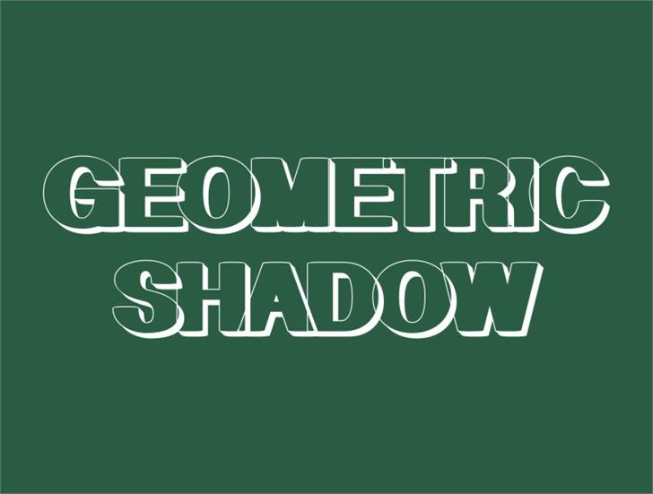 Image for Geometric Shadow font