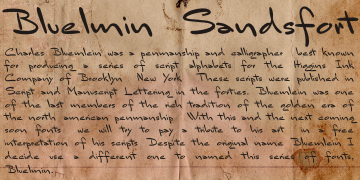 Image for Bluelmin Sandsfort font