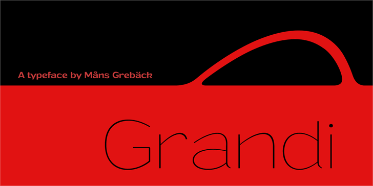 Image for Grandi PERSONAL USE font
