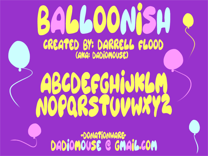 Image for Balloonish font