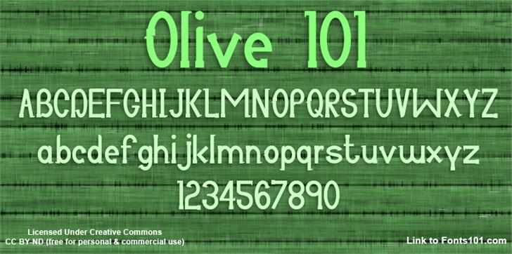 Image for Olive 101 font