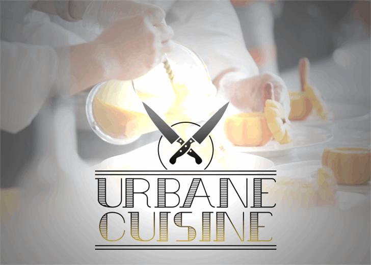 Urbane Cuisine font by Font Monger