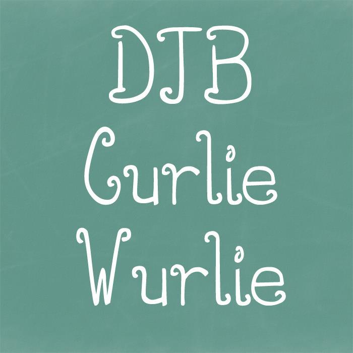 Image for DJB CURLIE WURLIE font