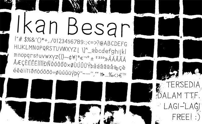 Image for Ikan Besar font