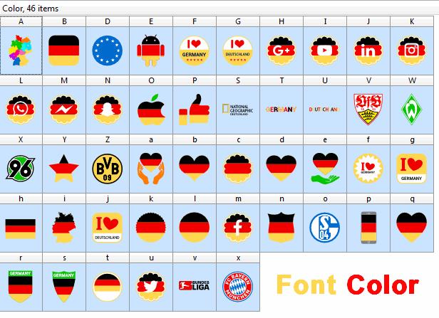 Font Color Germany font by elharrak