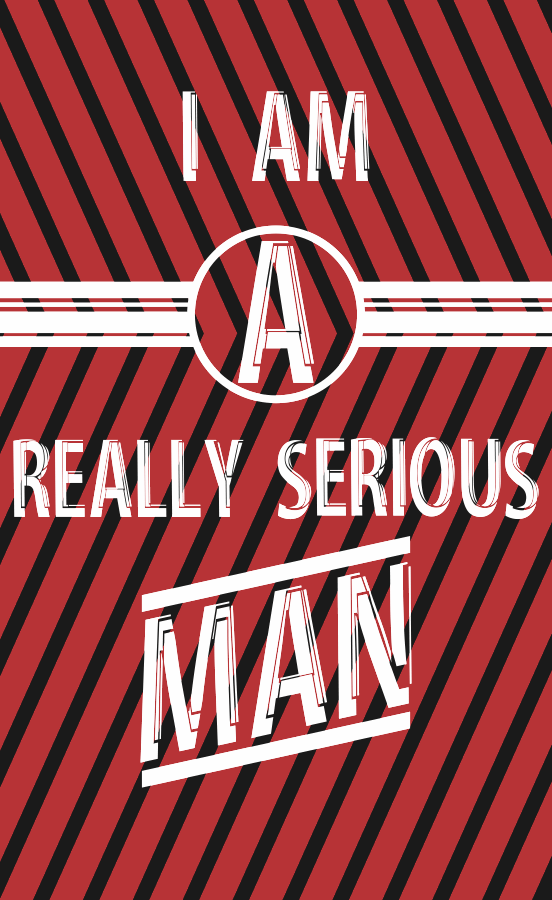 Image for Serious Man font