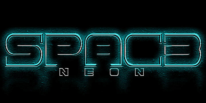 Image for Spac3 neon font