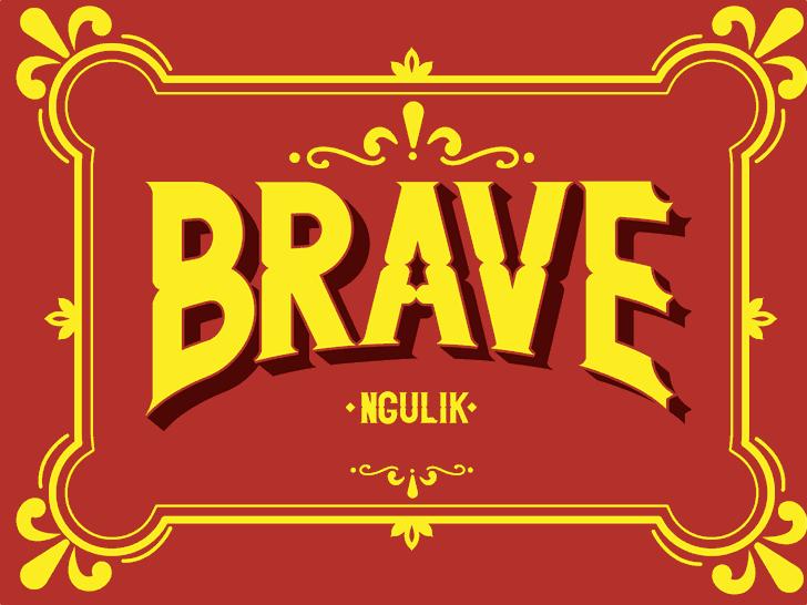 Image for BRAVE font