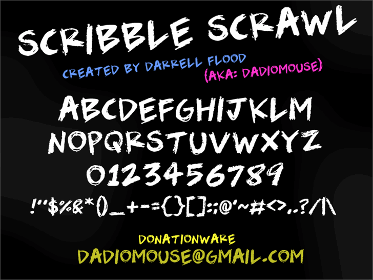 Image for Scribble Scrawl font