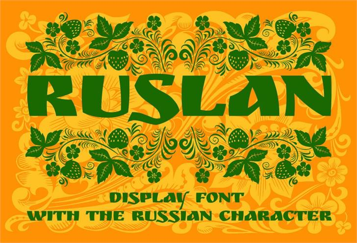 Image for Ruslan Display font