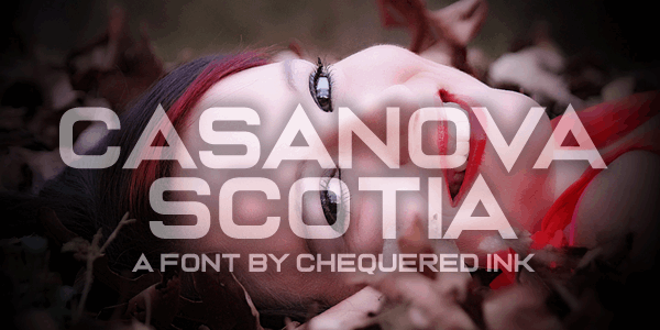 Casanova Scotia font by Chequered Ink