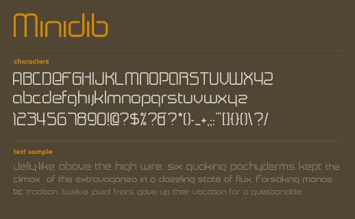 Minidib font by Marc Clancy