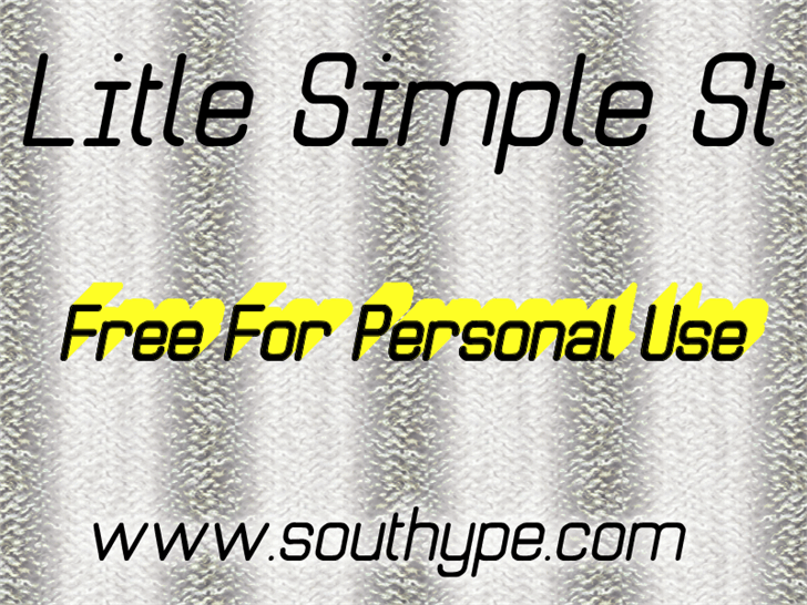 Image for Litle Simple St font