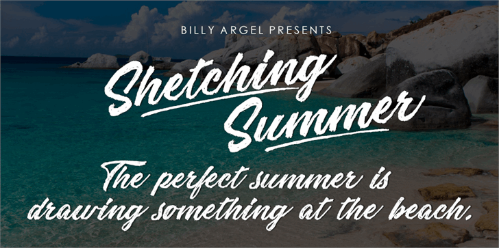 Sketching Summer Personal Use font by Billy Argel