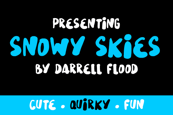 Image for Snowy Skies font