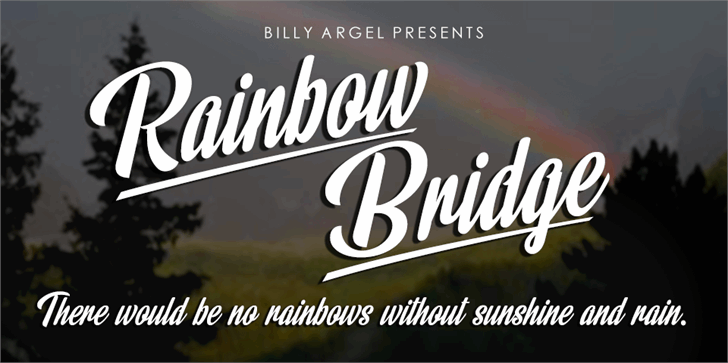 Image for Rainbow Bridge Personal Use font