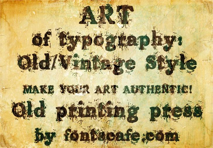 Image for Old printing press_FREE-version font