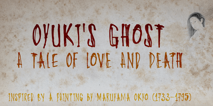 Image for DK Oyukis Ghost font