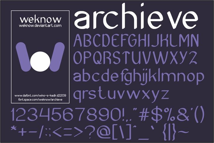 Archieve font by weknow