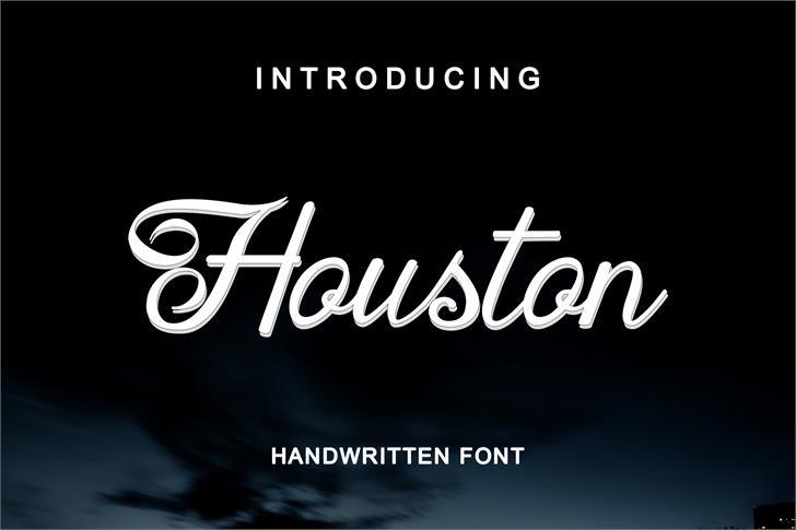 Houston Regular font by lepartestudio