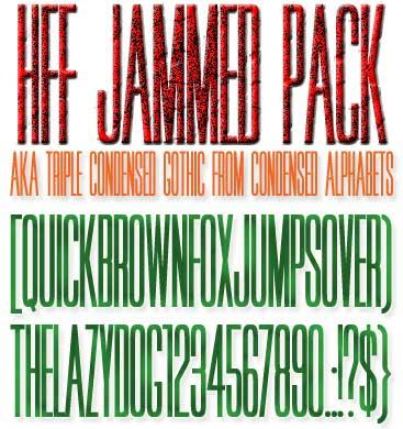 Image for HFF Jammed Pack font