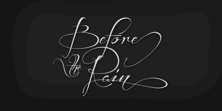 Image for Before the Rain font