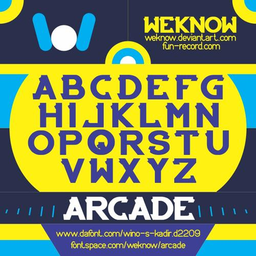 Image for ARCADE font