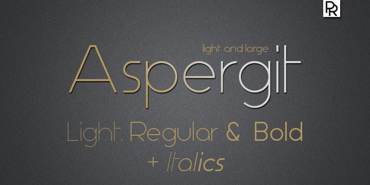 Image for Aspergit font