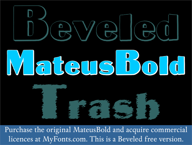 MateusBold font by Intellecta Design