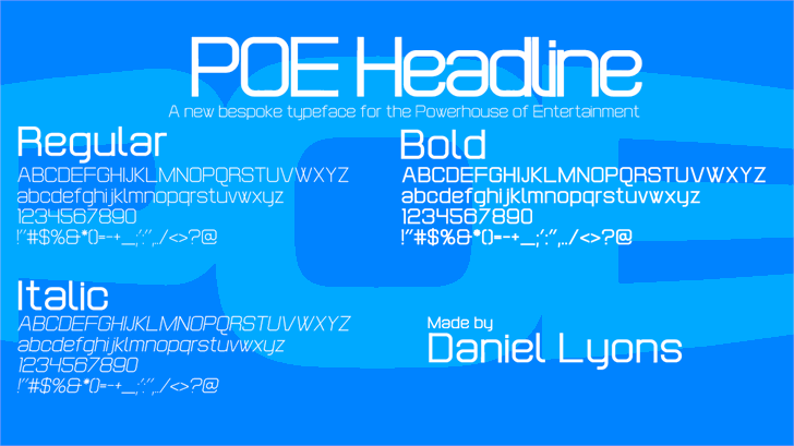 POE Headline font by 538Fonts