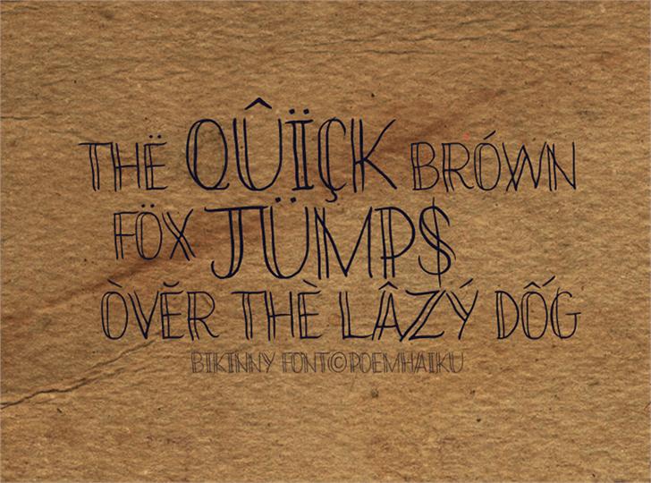 Image for Bikinny Demo font