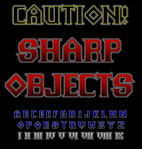 Sharp Objects NBP font by total FontGeek DTF, Ltd.