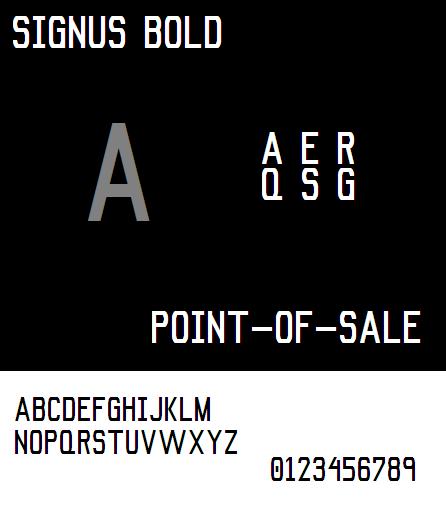 Image for Signus Bold NBP font