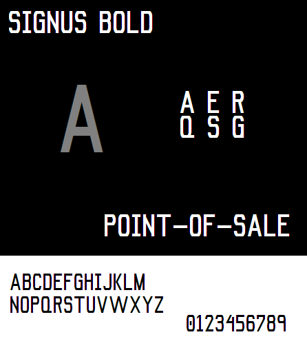 Signus Bold NBP font by total FontGeek DTF, Ltd.