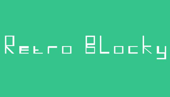 Retro Blocky font by Lensicle