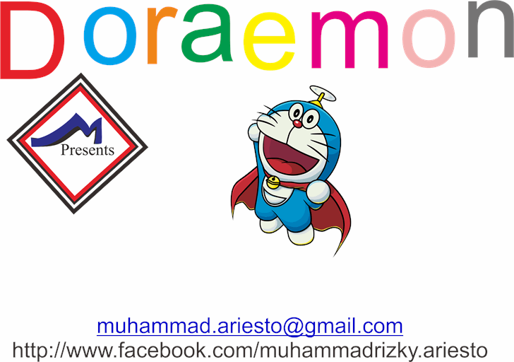 Doraemon font by Murizar