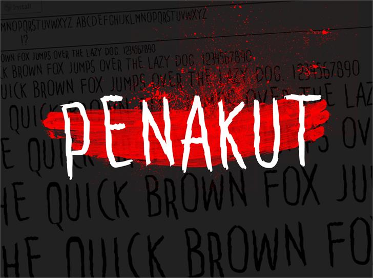 Image for Penakut font