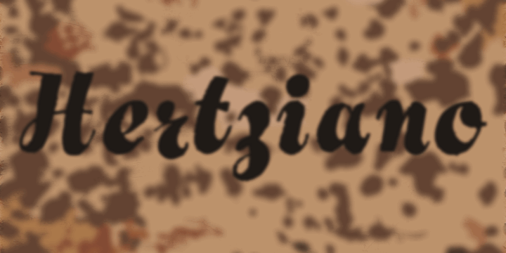 Image for Hertziano font