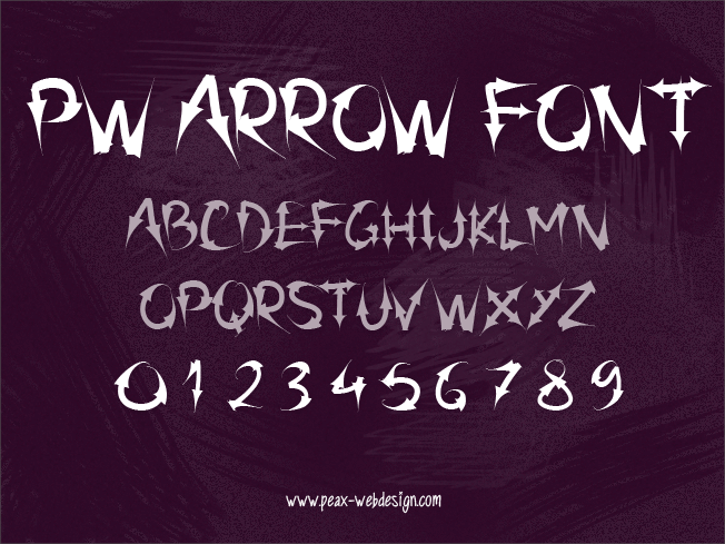 Image for PW Arrow font