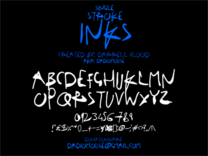 Image for Single Stroke Inks font