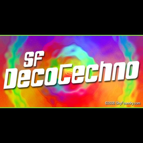 Image for SF DecoTechno font