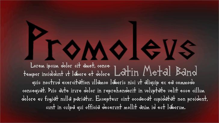 Image for Promoleus font