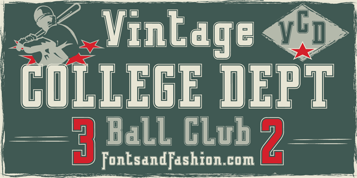 Image for VINTAGE COLLEGE DEPT_DEMO_outli font