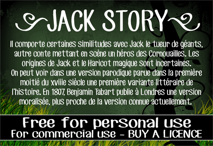 CF Jack Story font by CloutierFontes