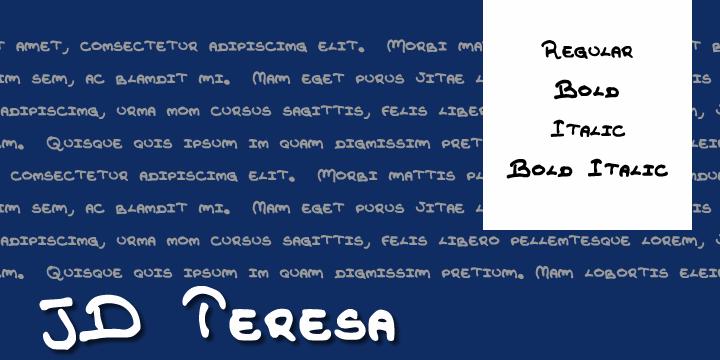 JDTeresa font by Jecko Development