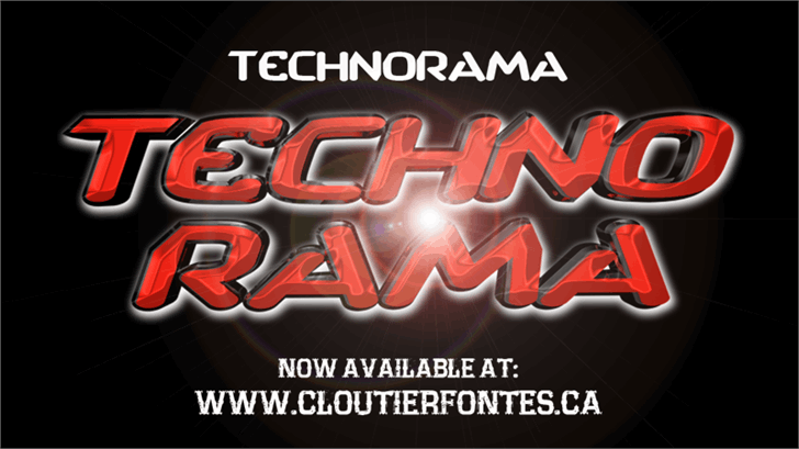 Image for CF TechnoRama font