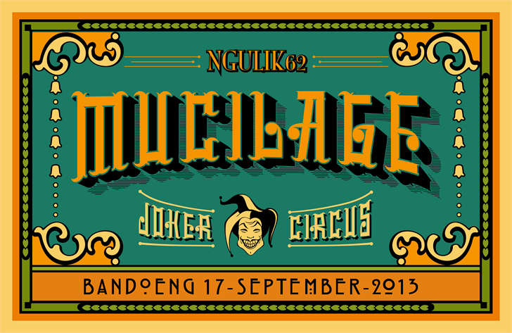 Image for mucilage type font
