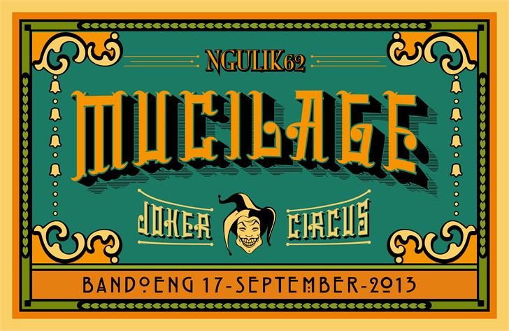 mucilage type font by ngulik