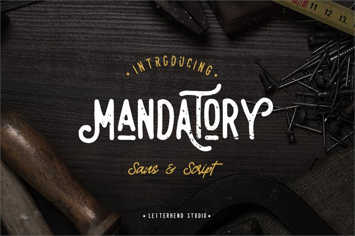 Mandatory Script font by Letterhend Studio